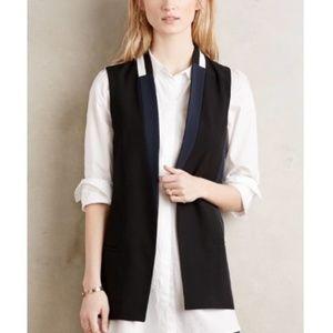 NWOT Anthrpologie Elevenses color block vest sz M